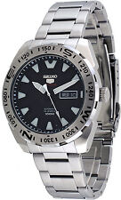 Seiko 5 Sports SRP739 Men's Stainless Steel Black Dial 100M Automatic Watch