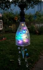 Hanging bottle solar light indoor or yard decoration