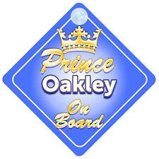 Prince héritier Oakley à bord personnalisé bébé garçon VOITURE SIGNE