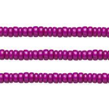 Wood Rondelle Beads Dark Purple 8x4mm 16 Inch Strand