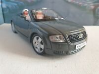 AUDI TT ROADSTER in GREY 1.24 PERSONALISED MODEL CAR BOXED DADS NEW BOYS TOYS