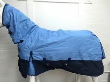 600D NON WATERPROOF BLUE/NAVY 300g STABLE HORSE COMBO RUG - 6' 0