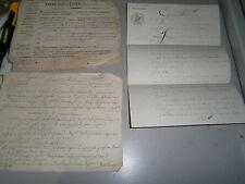 Lot de 3 documents Révolution  concernant Bonnecourt Meuse Lécourt Montigny
