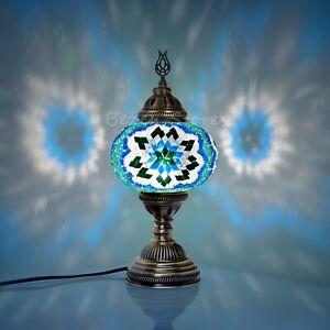 Turkish Moroccan Mosaic Bedside Lamp,mosaic lamp XL Globe Space Green Colour
