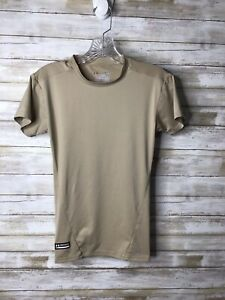 Under Armour Tactical Men's Small Tan Nude Fitted Compression Base Layer Shirt