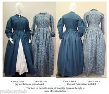 Victorian Work or Maternity Dress, Morning Gown Laughing Moon Sewing Pattern 120