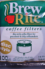 "Disc Coffee Filters 1200 ct Percolator 3""-3.5"" Brew Rite USA Filter unbleached"