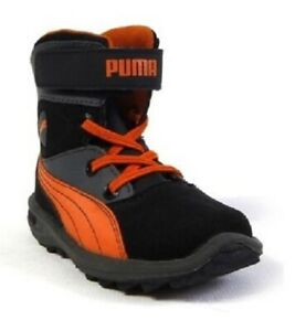 PUMA Toddlers Niveus Kids Black Orange High Top Sneakers Size 4 5 6 7 10