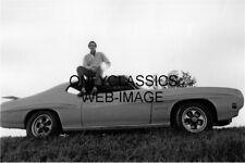 TWO LANE BLACKTOP WARREN OATES ON ROOF PONTIAC GTO STREET RACING CAR MOVIE PHOTO