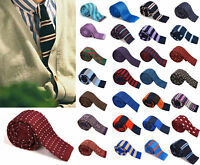Necktie Woven Knit Handsome Tie Slim Business Party Men Narrow Wedding Skinny j