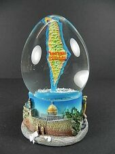 Palla di neve Israele in Forma di uovo,Snowglobe Cartina geografica,Muta 11