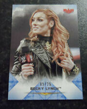 2020 TOPPS  WWE UNDISPUTED BECKY LYNCH BLUE PARALLEL 5/25
