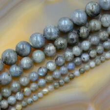 Natural Labradorite Gemstone Round Loose Beads 15.5