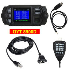 QYT KT-8900D UHF Mobile Radio Transceiver+Programming Cable+Mic Extension Cable