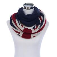 Premium UK British Flag Union Jack Winter Knit Infinity Loop Circle Scarf