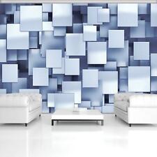 Fototapete XXL Abstrakt Quadrat 3D Geometrie Ausblick Optik Wohnzimmer Tapete 66