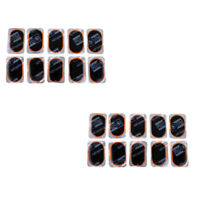 20pcs Bicycle Tyre Tire Inner Tube Puncture Patches Repair Mend Kits 32x50mm