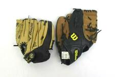 Lot Of Two Left Handed Fielder's Mitts Adult Wilson Youth Mizuno