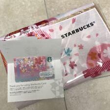 Starbucks Japan SAKURA  2018 lunch wrapping cloth&card set F/S