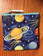 Solar System Planets Glitter Handmade Fidget Spinner Holder Coin Purse CC Wallet