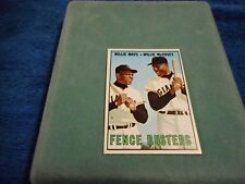 1967 TOPPS TRADING CARD #423 FENCE BUSTERS WILLIE MAYS & WILLIE McCOVEY