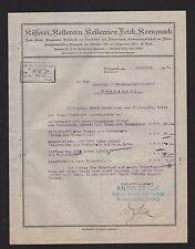 KREUZNACH, Brief 1925, Küferei, Kelterei und Kellereien Feick