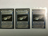 Star Wars Game 3 Card LOT Mon Calamari Star Cruiser- Death Star II - Light Side