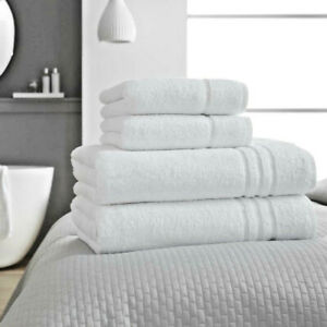 White Hotel Collection CHEADLE Towel 100% Egyptian Cotton 650GSM Hand Bath Sheet