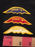 Vintage SWIM Meet Swimming Patch Lot - FREE A B  & C (FREESTYLE A B & C) 89NP