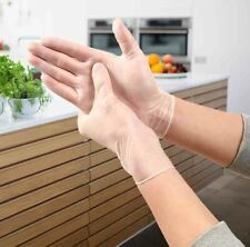More details for 50/100pcs disposable vinyl gloves powder tattoo latex free work strong food safe