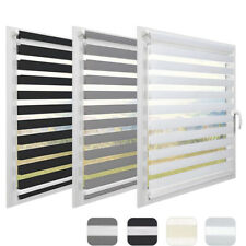 Day and Night Zebra/Vision Window Roller Blinds 3 Colours, 7 Sizes, 150cm Drop