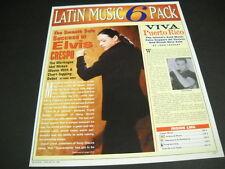 Elvis Crespo smooth solo success. 1999 Promo Poster Ad mint condition