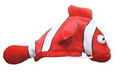 New Cute Red Nemo Fish Costume Party Warm Hat Mask Cap