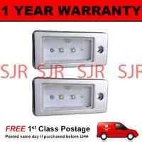 2X FOR AUDI A3 A4 A6 A8 S3 S4 S6 S8 ALUMINIUM 2 CREE WHITE LED NUMBER PLATE LAMP