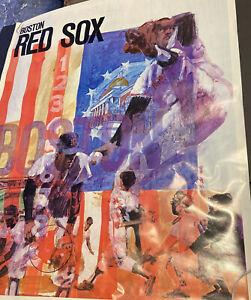 SCARCE 1971 BASEBALL PROMOTIONS/MLB~BOSTON RED SOX~23x29 INCH~POSTER PREMIUM