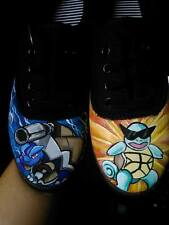 Youth Blastoise/ Squirtle Pokemon Hand Painted Sneakers
