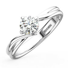 0.55CT Round Diamonds Solitaire Engagement Ring in 9K Gold