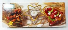 Vacaciones ORO POR Indiana Cristal Navidad CANDY servir Plato juego de 3