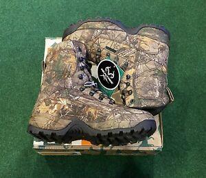 Tecs Trailmaker Series Waterproof Real Tree Hunting Camo Boots US Sz 10