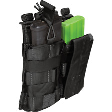 5.11 Tactical 5.56 & .223 Double Mag Pouch W/ Bungee Cover MOLLE Black 56157 019