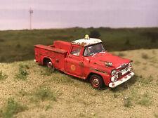 1958 Chevy Apache Fire Truck Rusty Weathered 1/64 Custom Barn Find Diecast Rust