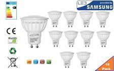 GU10 Bombilla LED Blanco Cálido, 6 W, 480 lúmenes, 3000K, 120 ° ángulo de haz-Paquete de 12