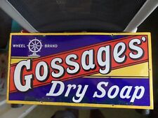 ENAMEL ADVERTISING SIGN ~ GOSSAGES DRY SOAP