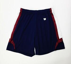 "Wilson Team 7"" Training Short USA Navy Blue Red White Men's Size XL 40"