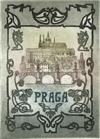 PRAGA Small Signed Aquatint Etching - CONTEMPORARY