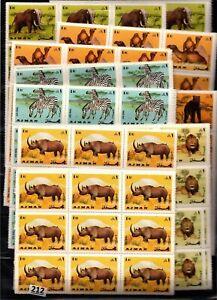 # AJMAN - MNH - RHINO, CAMELS, ELEPHANTS, LIONS - 120 SETS - WHOLSALE