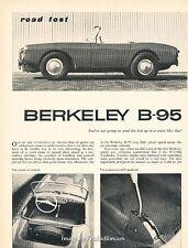 1960 Berkeley B-95 Original Car Review Print Article J650