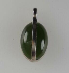 Designer Jade Anhänger 835 Silber Modernist Edelstein 💎 signiert