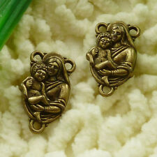 free ship 50 pieces Antique bronze mother and son connector 22x13mm #3023