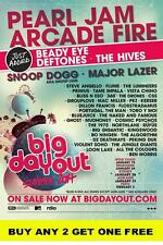 BIG DAY OUT 2014 Australian  Laminated  Poster